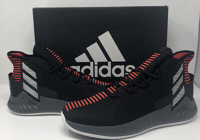 Adidas D Rose 9 Basketball Black Red Shoes Size 11.5 Derrick Rose AQ0039 NIB