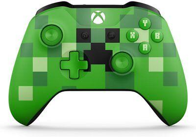 Microsoft Xbox One Wireless Controller - Green Minecraft Creeper X1, Xbox One S