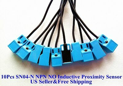 10pcs Sn04-n Npn No 4mm Inductive Proximity Sensor Detection Switch Dc 1030v Us