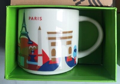 Discount! Starbucks Paris Mug Notre Dame YAH France You Are Here New with SKU