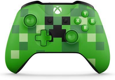 Microsoft Xbox One Wireless Controller Green Minecraft Creeper WL3-00056 (VG)