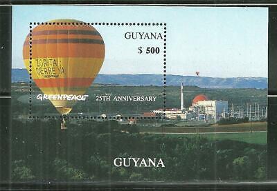 GUYANA MNH SOUVENIR SHEET GREENPEACE 25TH ANNIVERSARY
