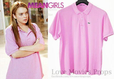 Mean Girls Lindsay Lohan Screen Worn Pink Shirt Movie Costume Prop So Fetch](Mean Girls Costumes)