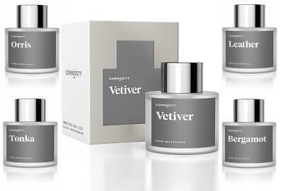 Commodity Platinum Eau De Parfum 100ml Vetiver Orris Tonka Bergamot Leather