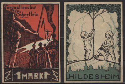 [18229]  Notgeld HILDESHEIM, Jungnationales Scherflein, 1 Mark, o. D. (um 1921),