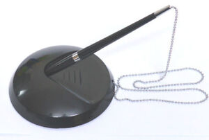 Large Pen Holder With Chain Reception Pen On Chain With Stand