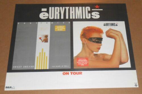 Eurythmics On Tour Sweet Dreams Promo 1984 Poster 22x27 RARE Annie Lenox