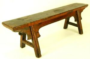 Antique Cypress Wood Bench Sm Seat Stand Step Stool Rustic