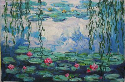 handgemalte Repr. d. Ölgemäldes,Monet,Seerosen,40x60cm bespannt auf Keilrahmen