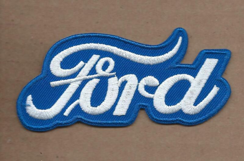 NEW 1 3/4 X 3 7/8 INCH BLUE FORD IRON ON PATCH FREE SHIPPING