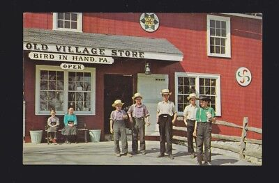 The Old Village Store Bird In Hand PA Penna Greetings from Amish Country postcar
