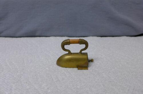 Sewing Vintage Brass windup Figural Tape Measure Iron sadiron