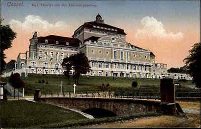 Cassel Kassel Hessen ~1910 alte color Postkarte Königliches Theater Außenansicht