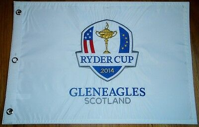 2014 RYDER CUP GLENEAGLES SCOTLAND GOLF COURSE PIN FLAG EMBROIDERED RARE