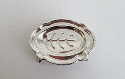 W.B. Meyers Well and Tree Footed Meat Platter Miniature Sterling Silver Rare