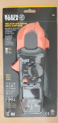 New Klein Tools 400 Amp Acdc Digital Clamp Meter Auto-ranging Cl390