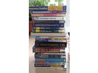 Various Business Studies, Economics, Finance Text Books