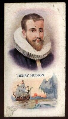 Tobacco Card,Pattreiouex,Builders of the British Empire, 1929, Henry Hudson, #13