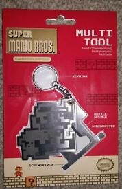 £4 Super Mario Bros multi tool keyring - officially licensed