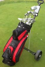 Golf Clubs men's RH + bag + buggy perfect for beginner Bundoora Banyule Area Preview