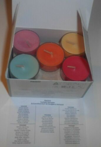 Partylite From the Garden 15pc Tealight Sampler Pk Candles P84040 New/Open Box