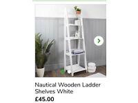 New in Box. Nautical ladder shelf.