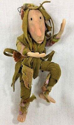 Handmade Polymer Clay Posable Sculpture Male Wood Fairy Art Doll