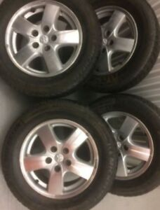 4 Michelin winter tires with Dodge mags:225/60R16