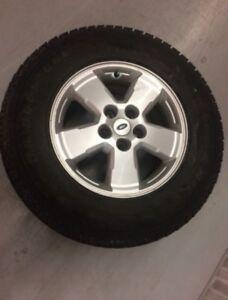 x4 Bridgestone Blizzak Winter Tires  225/75/16 w/ Mags