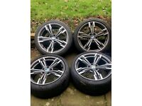 """BMW STYLE 19 INCH STAGGERED M SPORT ALLOY WHEELS ALLY RIMS 19"""""""