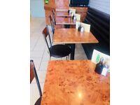 Restaurant Walnut venered tables & chairs