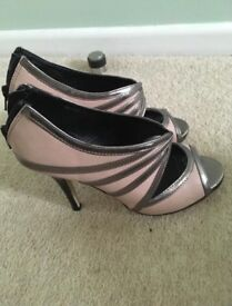 Pink and silver new look shoes size 4