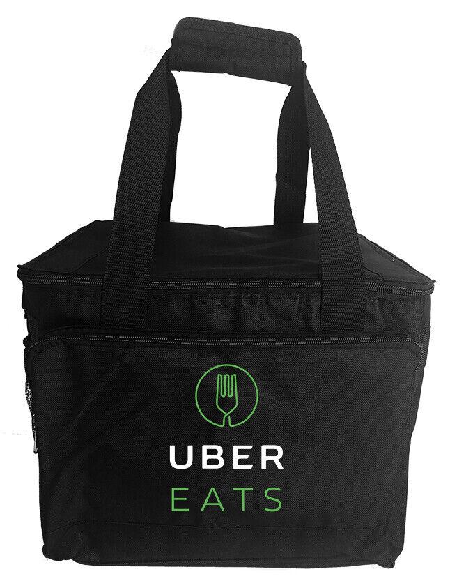 как выглядит Uber Eats rectangular food delivery bag, food carrier фото
