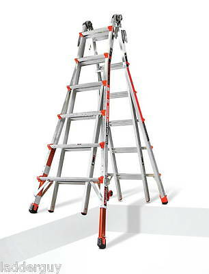 26 1A Revolution Little Giant Ladder with Ratchet Levelers 12026-801