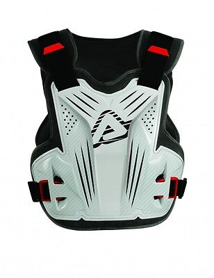 NEW ACERBIS IMPACT MOTOCROSS MX ENDURO BODY ARMOUR PROTECTOR ROOST GUARD WHITE