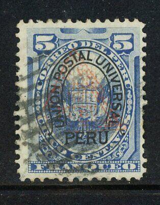 Peru- Scott 91 Triangle 1, Mute Cancel- Super Rare Key Stamp!