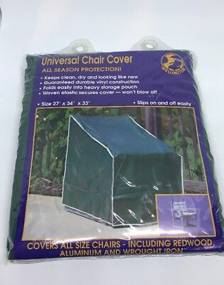 Vinyl Outdoor Chair Cover - Universal Vinyl Chair Cover For Outdoor All Season Protection - 27