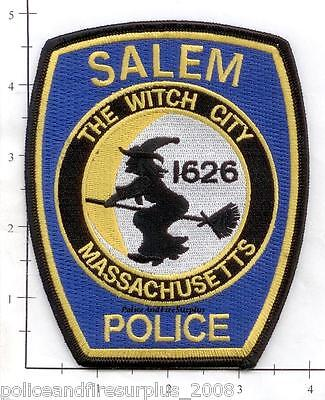 Massachusetts - Salem MA Police Dept Patch - The Witch City