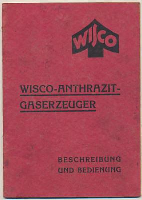 Wisco Anthrazit Gaserzeuger für LKW .. Beschreibung 30iger Jahre