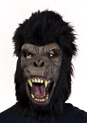 King Kong Mask (SCARY APE MASK w/ HAIR ANGRY GORILLA KING KONG ADULT HALLOWEEN COSTUME)