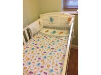 Baby jungle animal nursery bedding and accessories