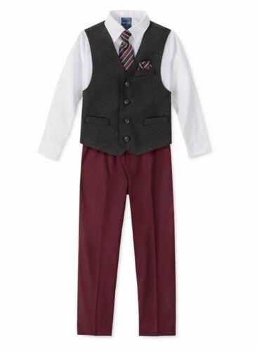 Nautica Little Boys 5-Pc. Pants Tie Herringbone Donegal Vest Set Size 6 NWT