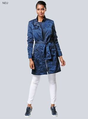 Mujer Chaqueta Abrigo Corto Alta Calidad Parker Tencoat Talla 40 Azul Noche...