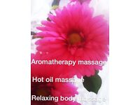 Aromatherapy relaxing massage