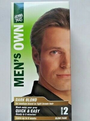 Henna Plus Men's Own Hair Color System 2 Dark Blonde Slow Fade Up To 6 Weeks NIB
