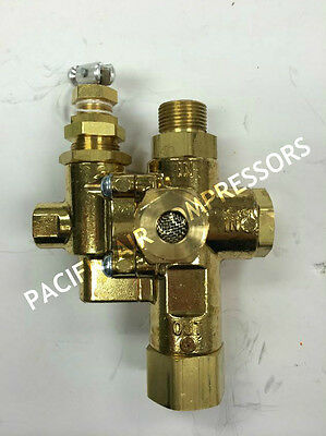 Pilot Valve For Gas Powered Air Compressors. 110-125 Psi Adjustable