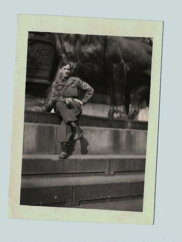 An American Soldier in France May 15 1945 Photo Week after VE Day