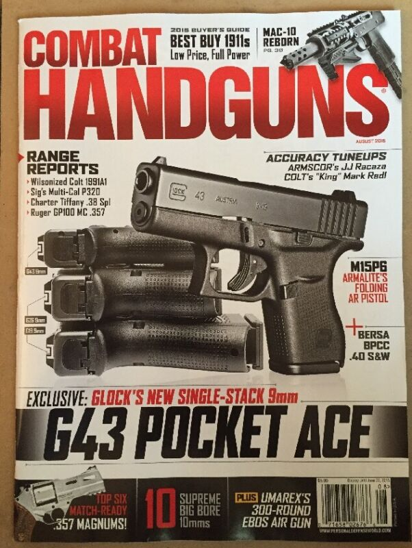 Combat Handguns Range Reports Buyers Guide G43 Pocket Ace Aug 2015 FREE