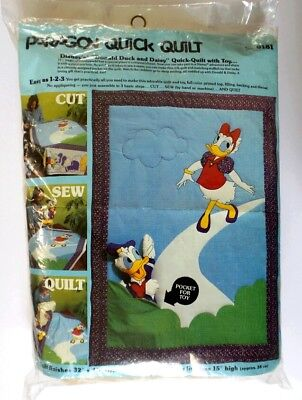 Paragon DISNEY Donald Duck & Daisy KIT Quick QUILT CRIB + TOY NeedleCraft 0181, used for sale  Richmond