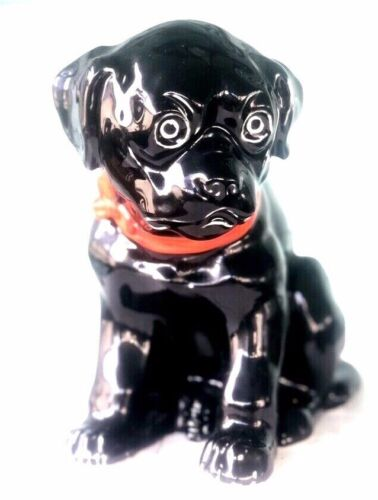 """ERPHILA Porcelain Puppy Dog Seated Figurine statue Germany marked antique 8"""""""